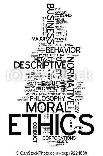 éthique, mot, nuage - csp19224888