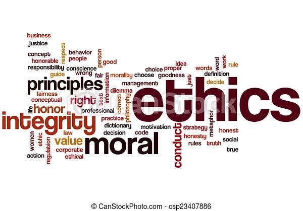 éthique, mot, nuage - csp23407886