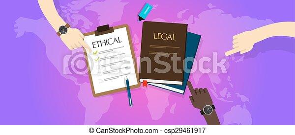 La ley legal contra ética ética ética - csp29461917