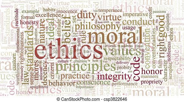 La ética y los principios de la palabra nube - csp3822646