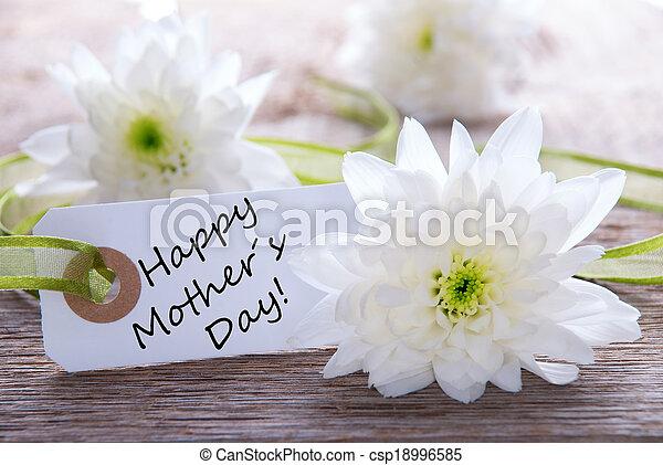étiquette, heureux, jour, mères - csp18996585
