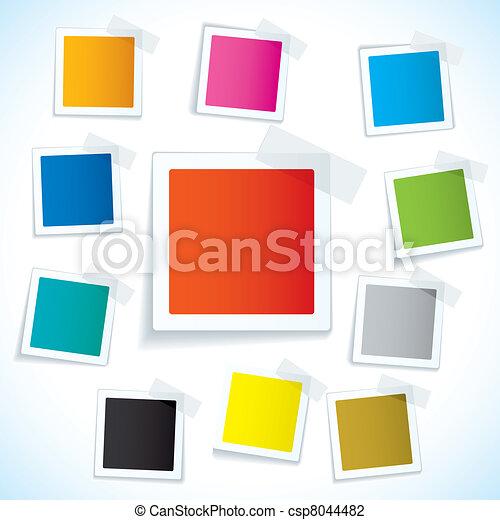 étiquette papier, bande, carrée - csp8044482