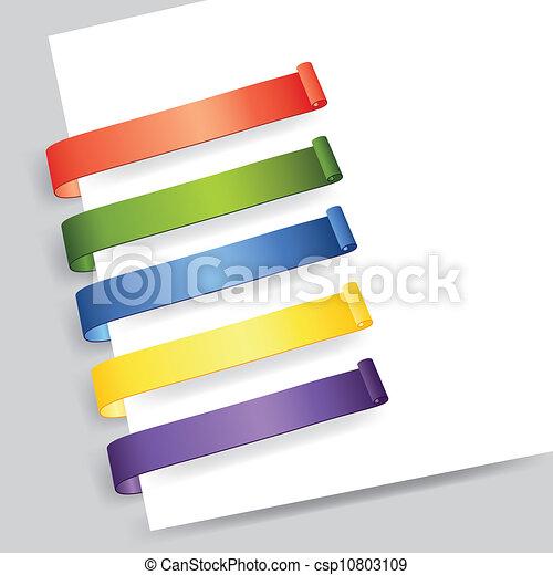 étiquette papier - csp10803109