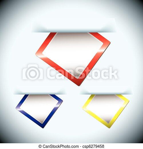 étiquette papier, glissade - csp6279458