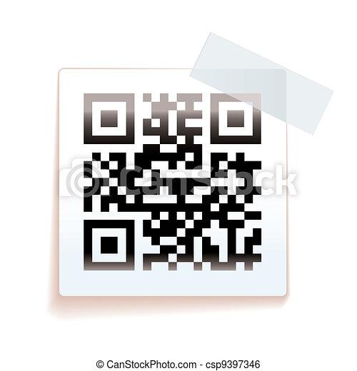 étiquette papier, qr - csp9397346