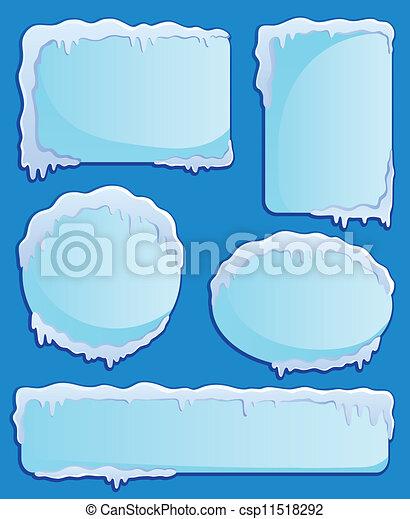 étiquettes, thème, 2, hiver, image - csp11518292