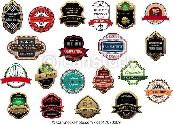 étiquettes, vente, conception, bannières, vente au détail, ou - csp17070289