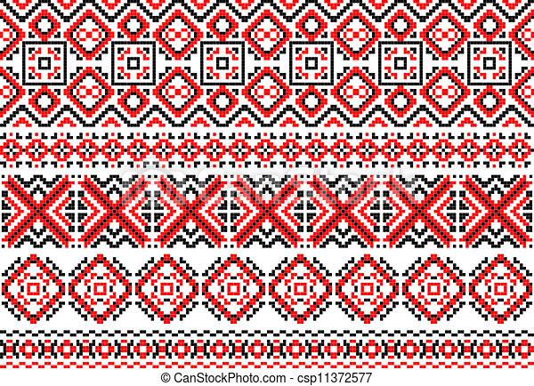 étnico, traceries, ornamentos, retro - csp11372577