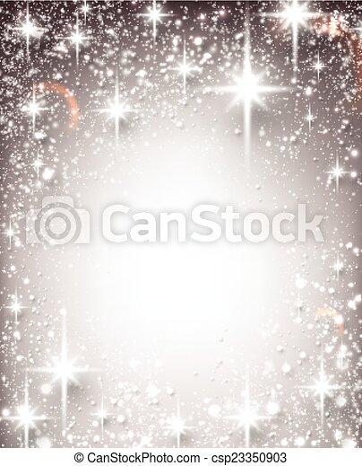 étoilé, hiver, noël, arrière-plan. - csp23350903