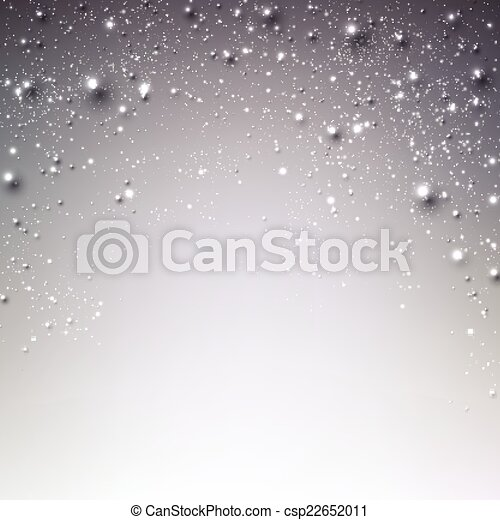 étoilé, hiver, noël, arrière-plan. - csp22652011