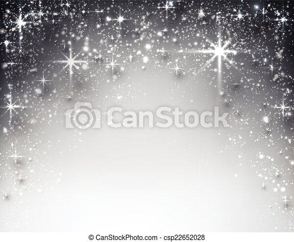 étoilé, hiver, noël, arrière-plan. - csp22652028