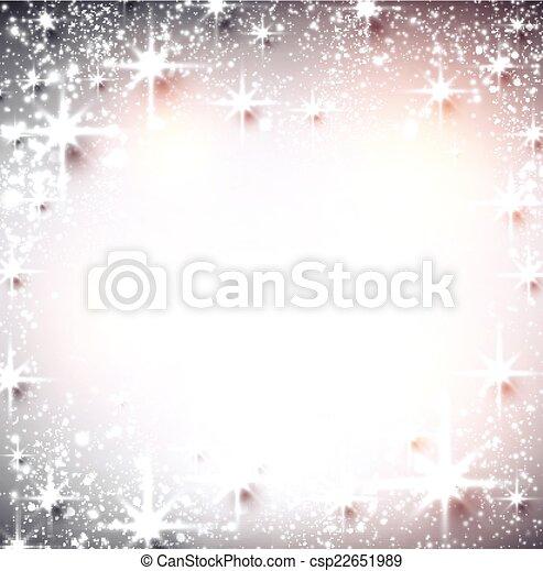 étoilé, hiver, noël, arrière-plan. - csp22651989