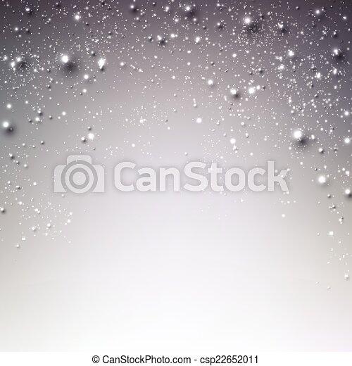 étoilé, noël, hiver, arrière-plan. - csp22652011