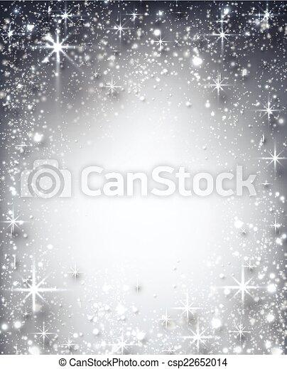 étoilé, noël, hiver, arrière-plan. - csp22652014