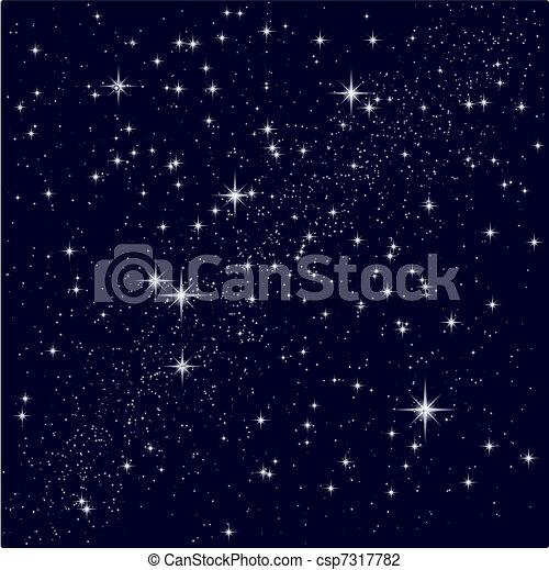 étoilé, vecteur, ciel, illustration - csp7317782
