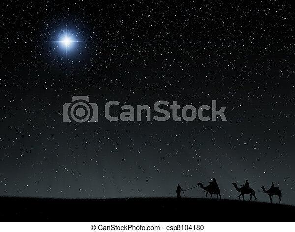 étoile, bethlehem - csp8104180