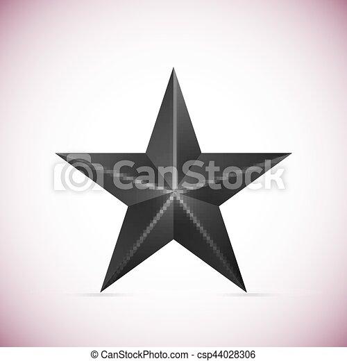 étoile, blanc, vecteur, noir, isolé, fond - csp44028306