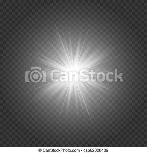 étoile brillante, argenté - csp62028489
