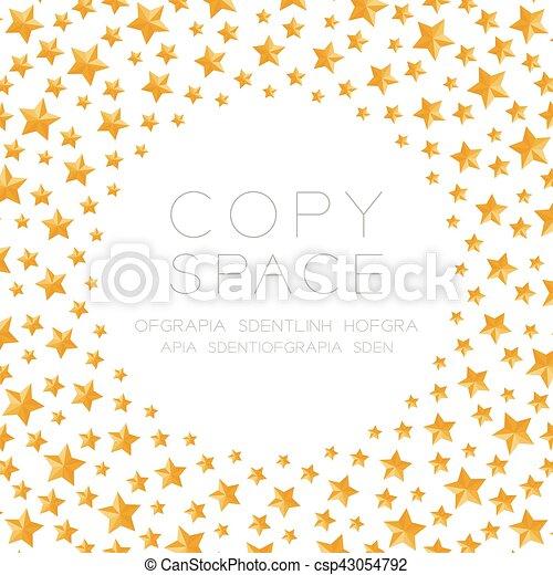étoile Centre Or Espace Couleur Modèle Isolé Noël Forme Fond Blanc Copie Cercle