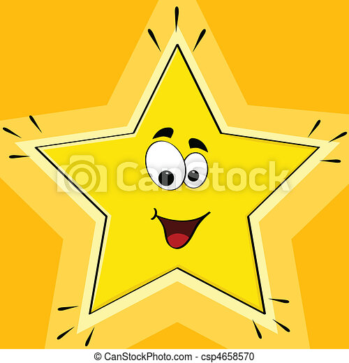 étoile, dessin animé - csp4658570