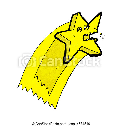étoile filante, dessin animé - csp14874516