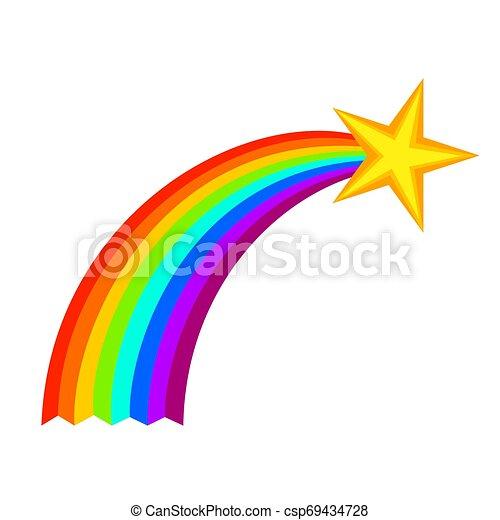 étoile filante, dessin animé, coloré - csp69434728