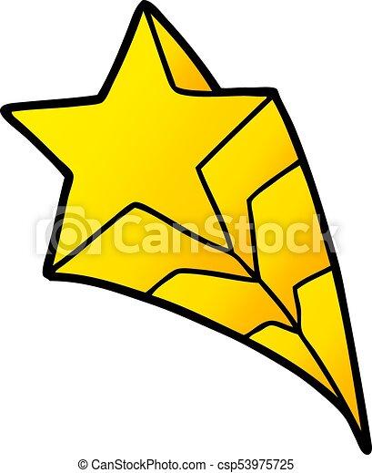 étoile filante, dessin animé - csp53975725