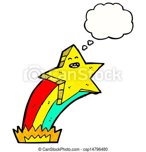 étoile filante, dessin animé - csp14796480