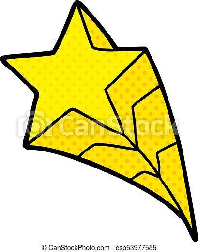 étoile filante, dessin animé - csp53977585