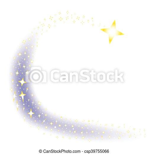 étoile filante, fond - csp39755066
