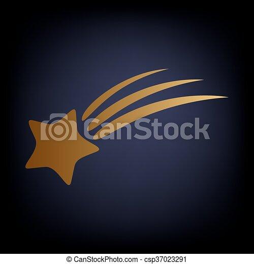 étoile filante, icône - csp37023291