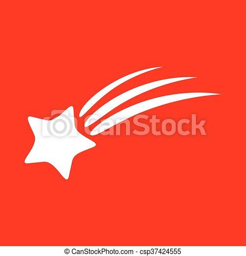 étoile filante, signe - csp37424555