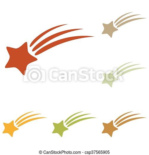 étoile filante, signe - csp37565905