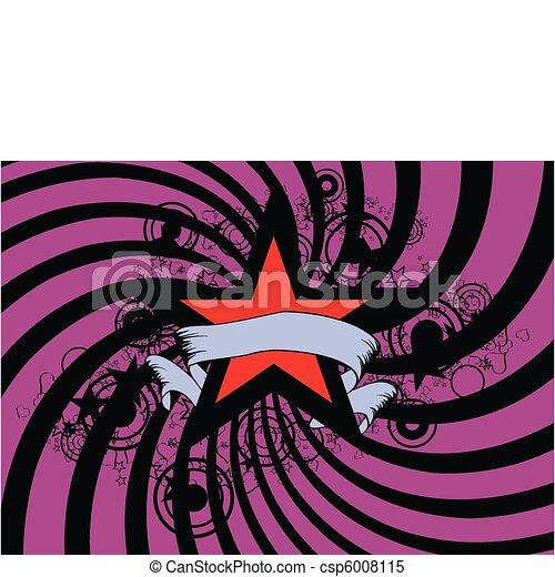 étoile, fond - csp6008115