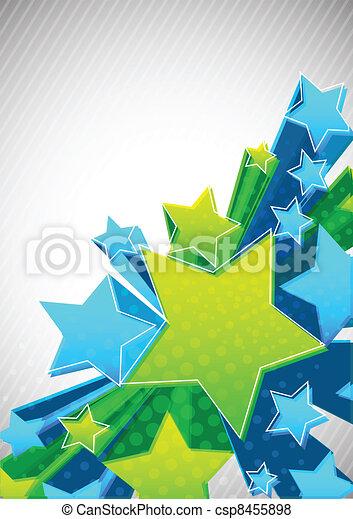 étoile, fond - csp8455898