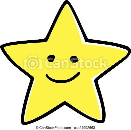 étoile, heureux - csp24992663