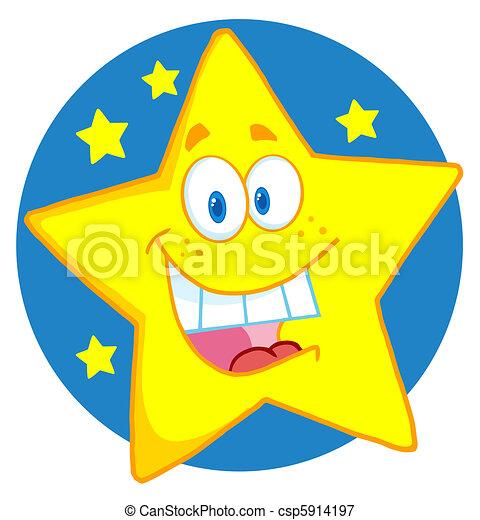 étoile, heureux - csp5914197