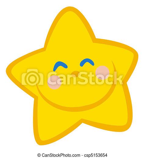 étoile, heureux - csp5153654
