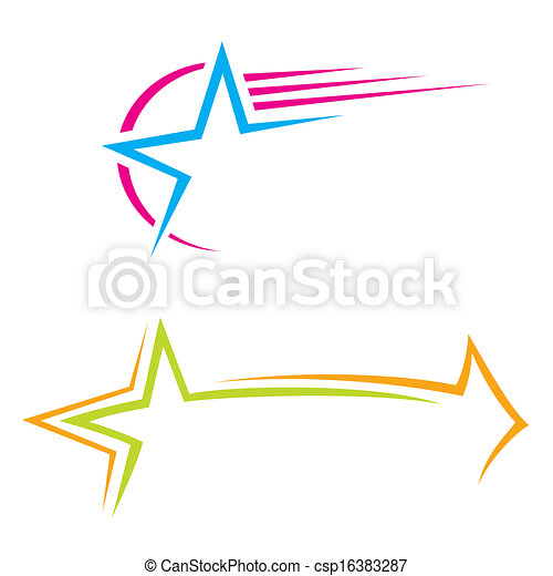 étoile, icônes - csp16383287