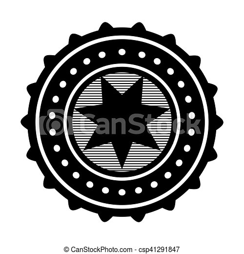 étoile, image, emblème, icône - csp41291847
