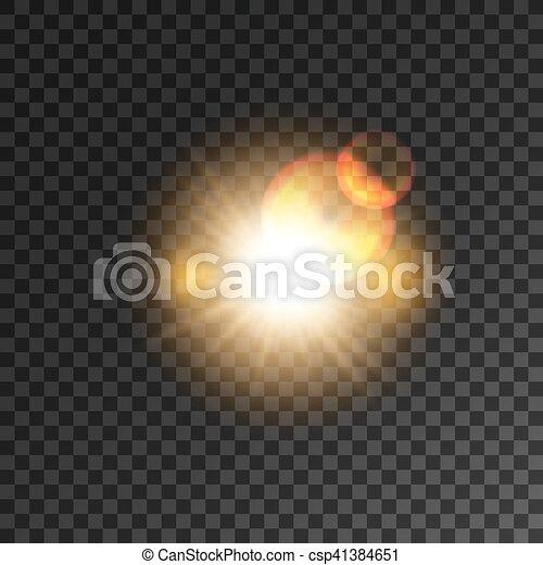 étoile, lumière or, flash, effet, fusée objectif - csp41384651