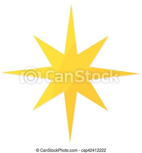étoile, noël, jaune - csp42412222