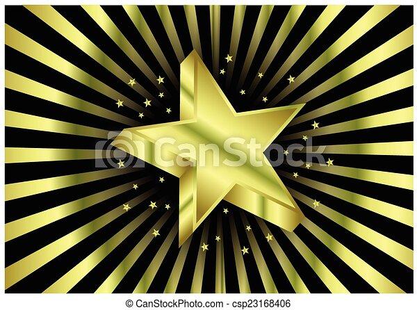 étoile, or - csp23168406