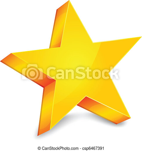 étoile, or - csp6467391