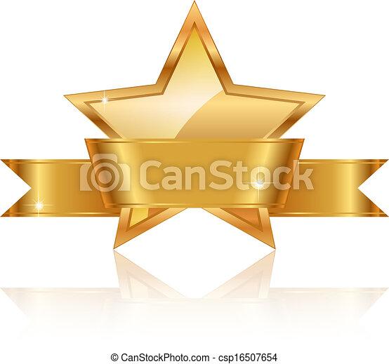 étoile, or, récompense - csp16507654