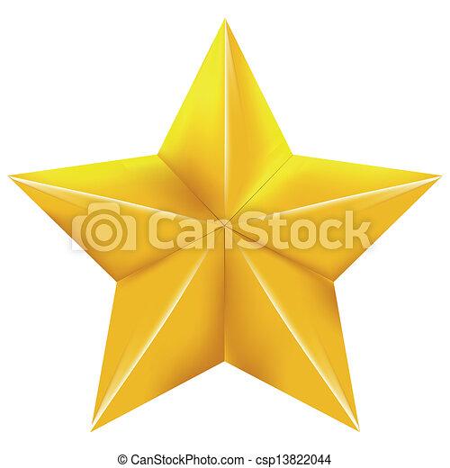 étoile, or - csp13822044