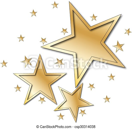 étoile, or - csp30314038
