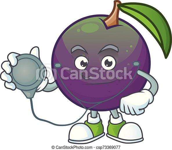 étoile, pomme, caractère, mascotte, dessin animé, docteur - csp73369077