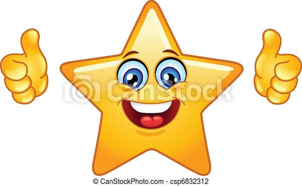 étoile, pouces haut - csp6832312