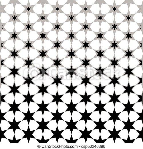 Etoile Resume Papier Peint Seamless Noir Blanc